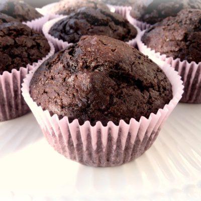 Dark Chocolate Espresso Muffins