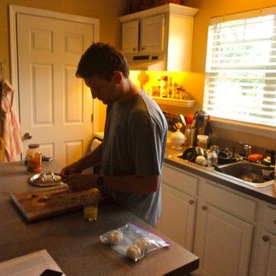 Sweet Hubby Cooks Dinner