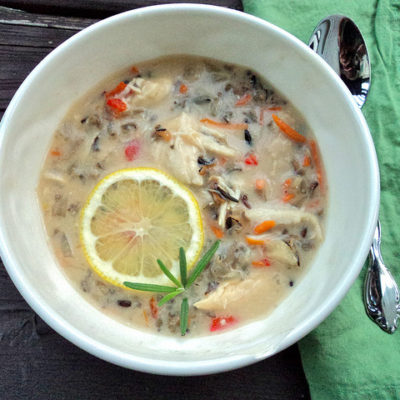Creamy Crockpot Chicken & Wild Rice