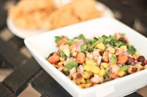 Lucky Cowboy Caviar is a family classic 3 bean dip filled with black eyed peas, pinto beans, black beans often served on New Years to bring good luck!