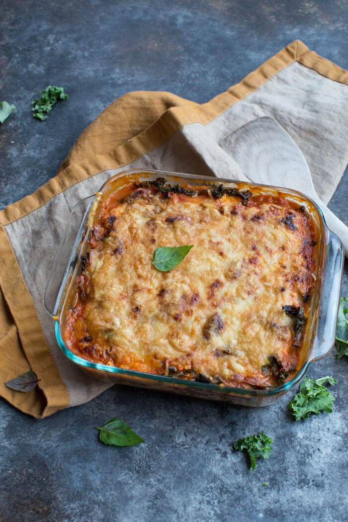 Do you want more protein, less carbs and loads of veggies in your diet? Look no further than meal prepping this Vegetarian Roasted Eggplant Lasagna! It's a dinner time favorite and totally crave worthy.