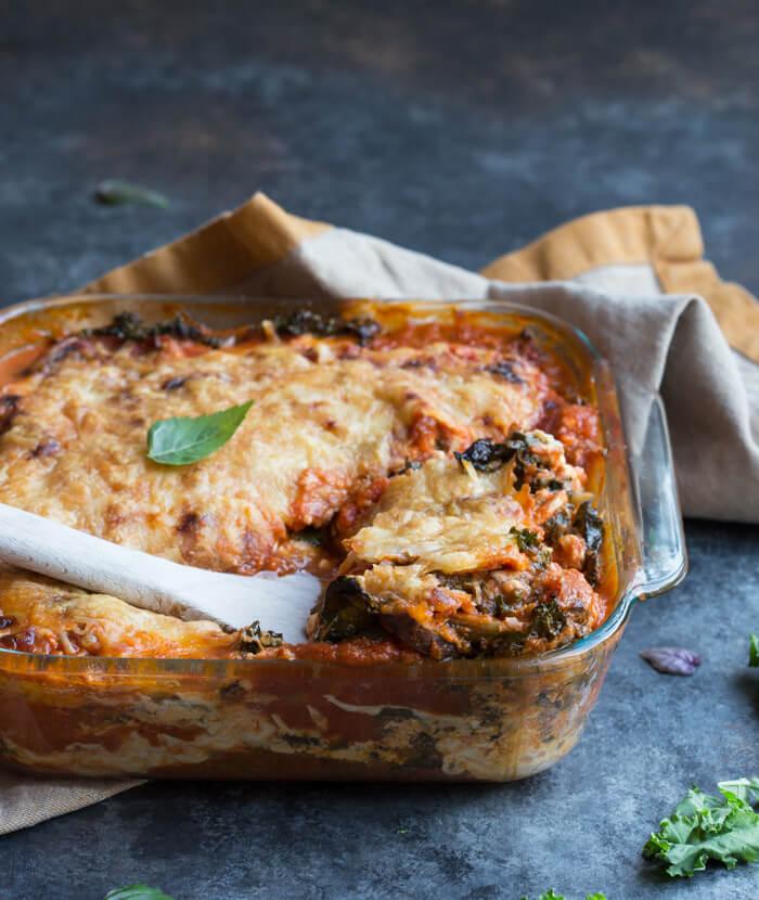 Vegetarian Roasted Eggplant Lasagna
