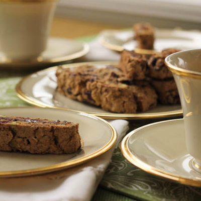 Dark Chocolate Pistachio Biscotti