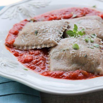 Eggplant Spelt Ravioli