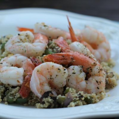 Roasted Shrimp with Veggie Couscous