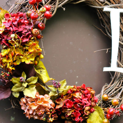 DIY Fall Wreath w/ Monogram