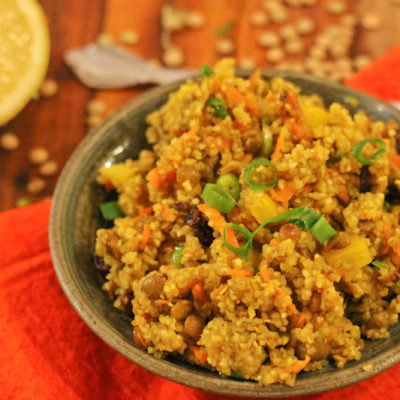 Curried Buckwheat and Lentils