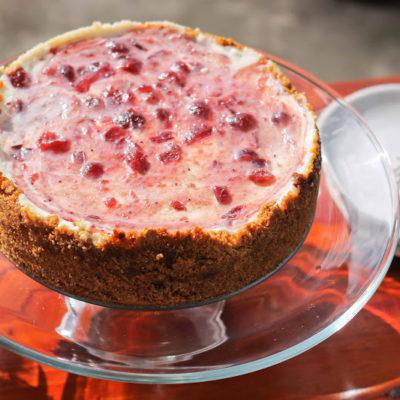 Cranberry Banana Cheesecake