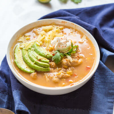 Slow Cooker Winter White Chicken Chili