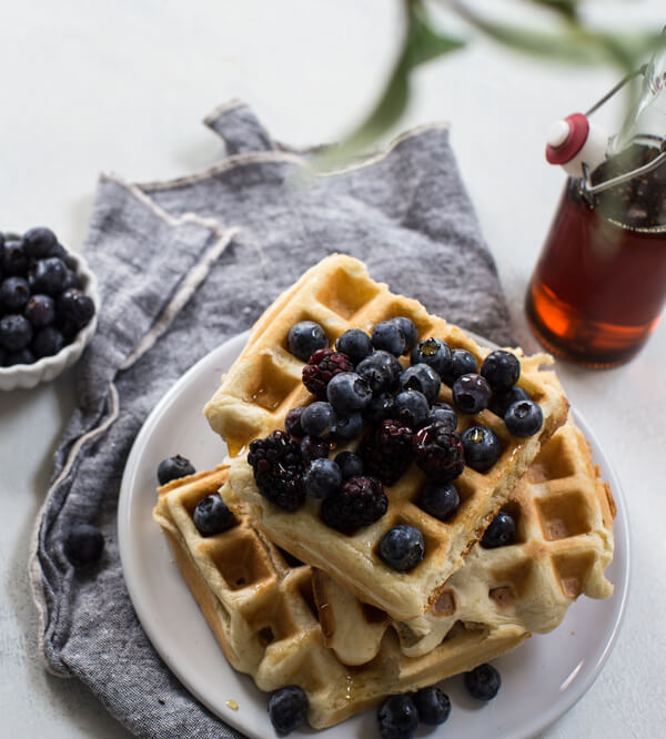 gluten free waffles with maple syrup