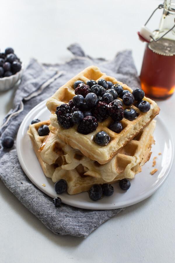 easy Belgian waffle mix