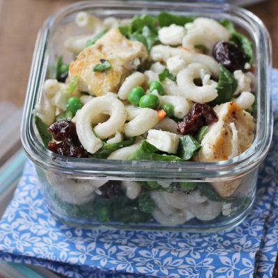 Chicken Pasta Salad with Herbed Buttermilk Dressing