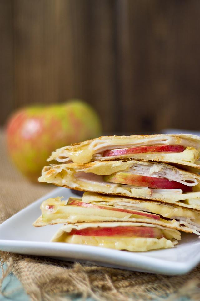 Creamy Apple & Fig Quesadilla | love & zest