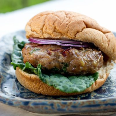 Cranberry & Kale Turkey Burgers