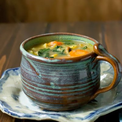 Drunken Potato & Kale Soup