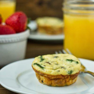 Spinach & Ricotta Quiche Muffins