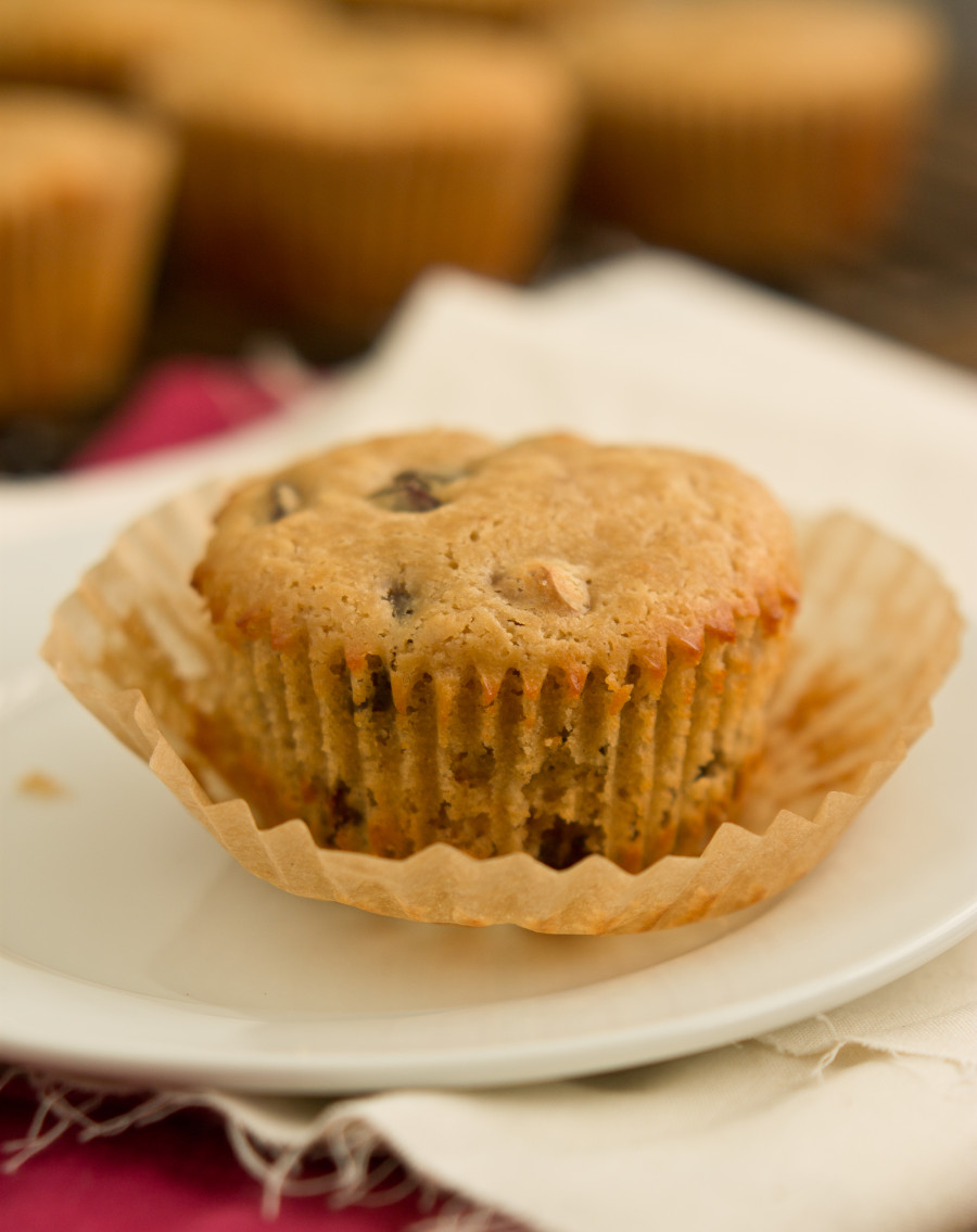 Dark Chocolate Cherry Walnut Muffins-6881
