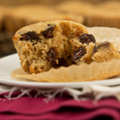 Dark Chocolate Cherry Walnut Muffins