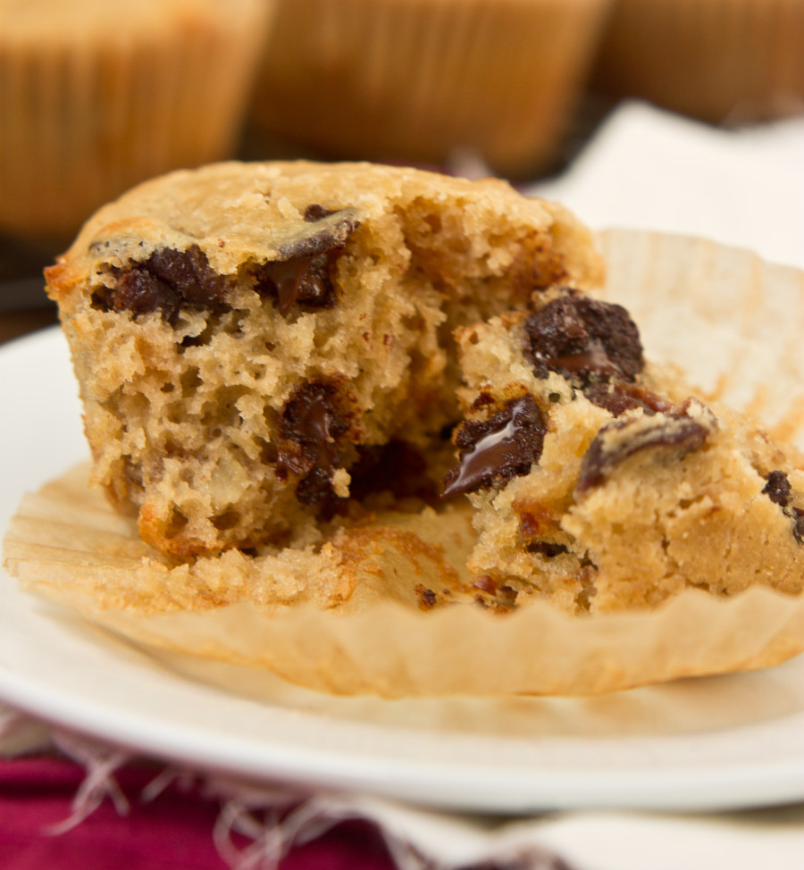Dark Chocolate Cherry Walnut Muffins-6902
