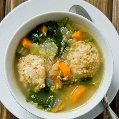 Italian Wedding Soup with Quinoa