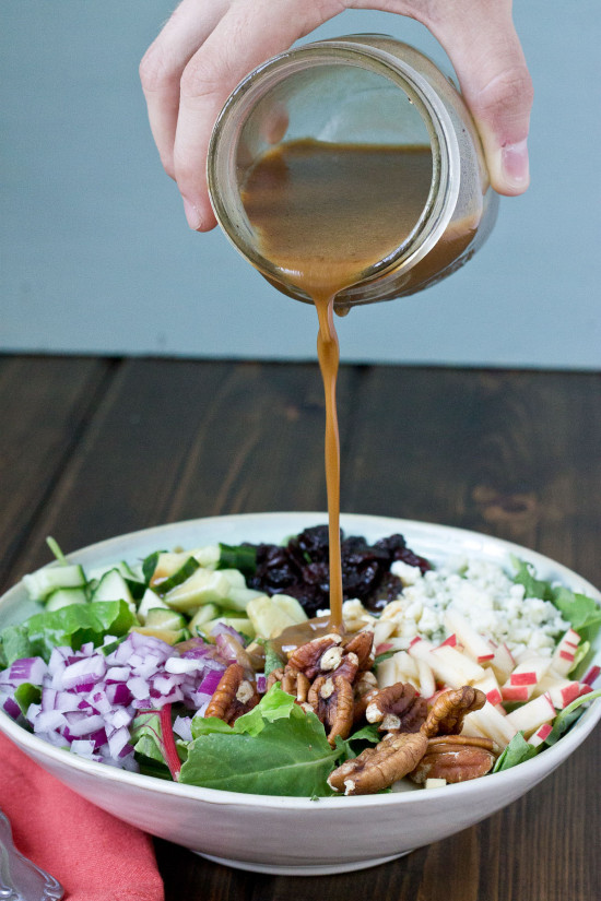 Harvest Salad with Creamy Pumpkin Balsamic Vinaigrette