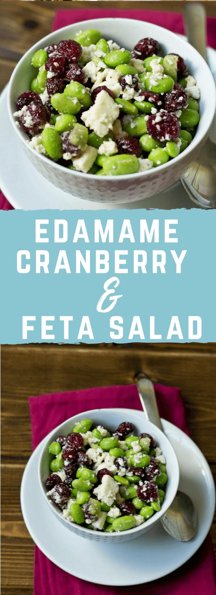 Edamame Cranberry Feta Salad | Gluten Free Vegetarian Side Dish ...