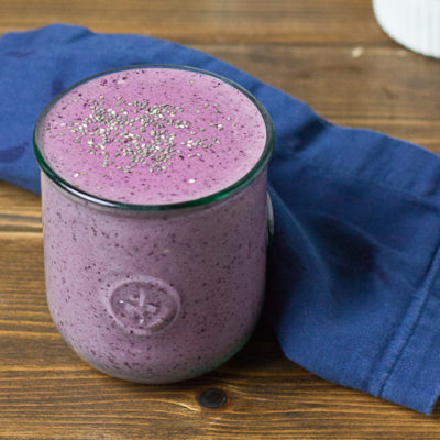 Blueberry Chia Smoothie #TrainingBites