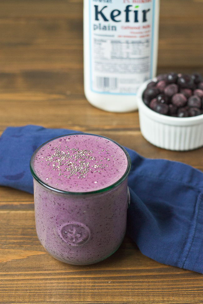 Blueberry Chia Smoothie Fuel for Training