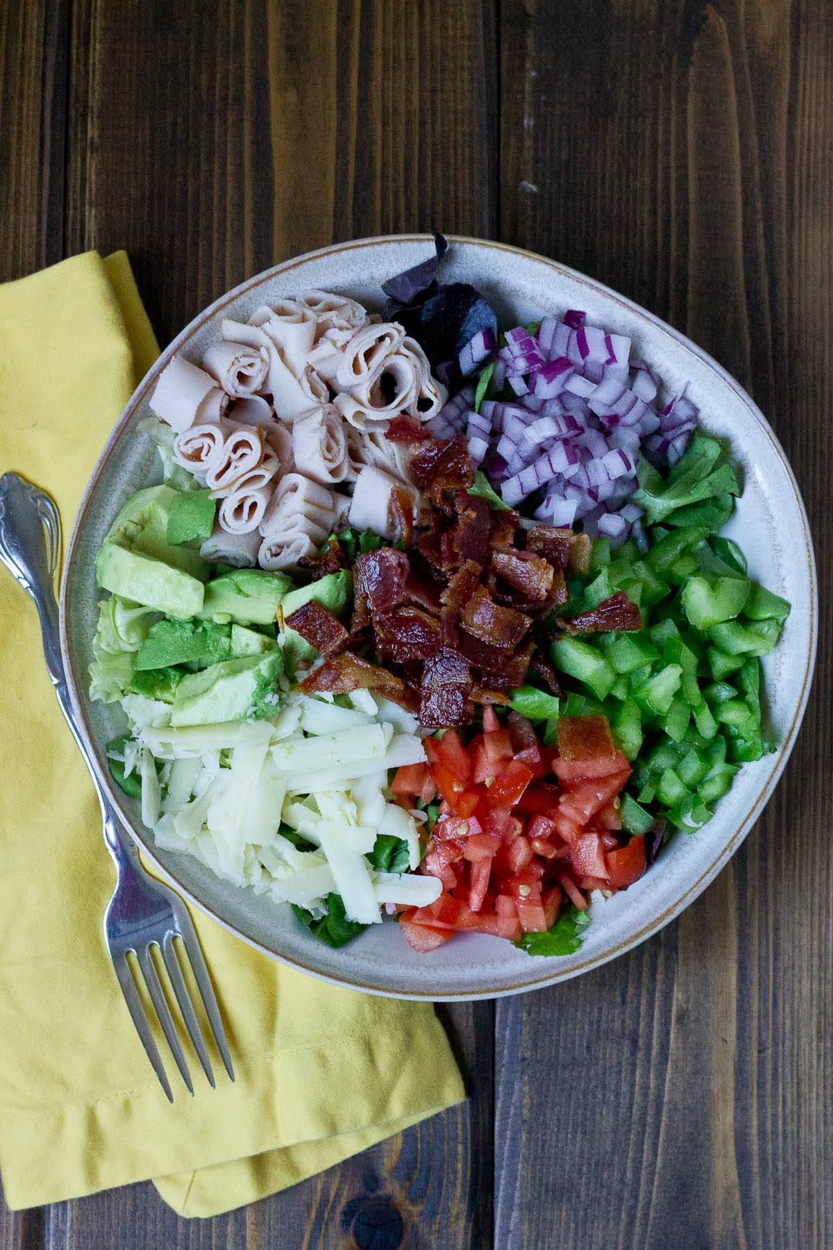 Cobb Salad w Zesty Yogurt Dressing-7148