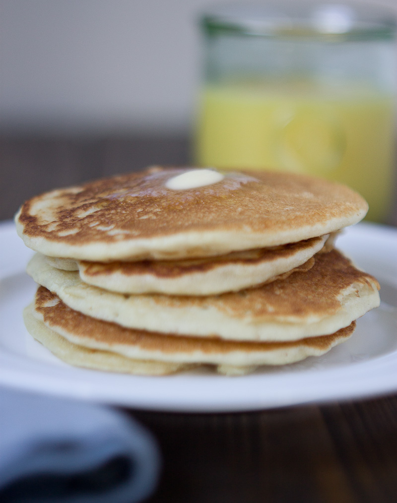 These Gluten Free Buttermilk Pancakes are my absolute fave! They are light and fluffy and slightly sweet, and easy to cut with a fork. YUM!