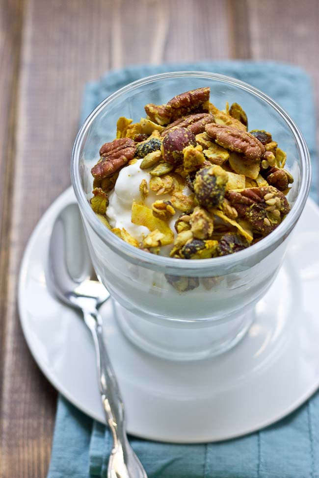 This Maple Pecan & Ginger Granola is savory and sweet with the perfect ...