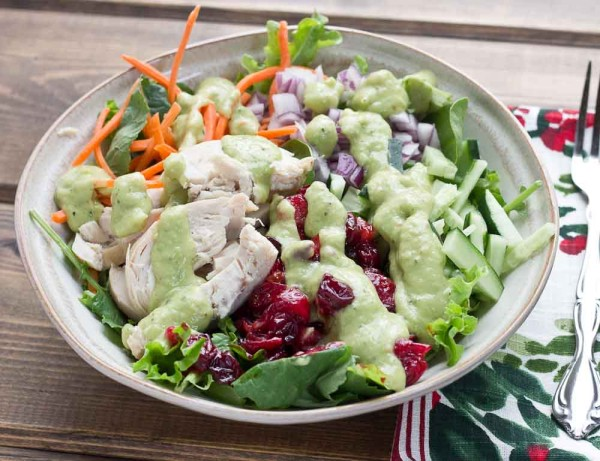 Chicken Salad With Avocado Ranch Dressing Love Zest