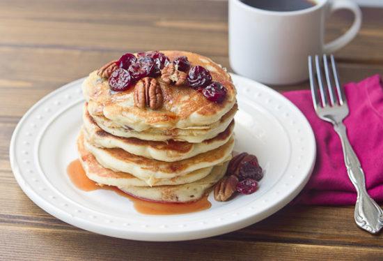 Tart Cherry Greek Yogurt Pancakes