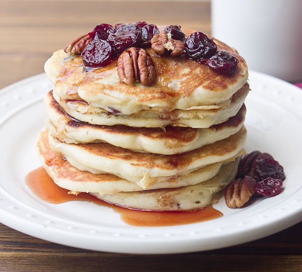 Tart Cherry Greek Yogurt Pancakes with Tart Cherry Maple Syrup | love ...