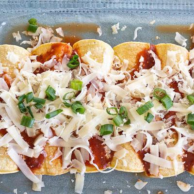 Chicken Enchiladas made with Homemade Enchilada Sauce