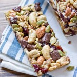 Tart Cherry, Dark Chocolate & Cashew Granola Bars. These snack bars are sweet, tart, salty, crunchy, healthy, yummy, and easy to make… what else can you ask for in a snack!?