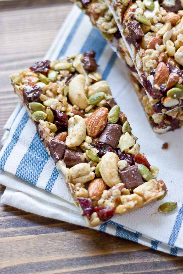 Tart Cherry, Dark Chocolate, and Cashew Granola Bars | Homemade Granola Bar Recipes To Keep You On The Go