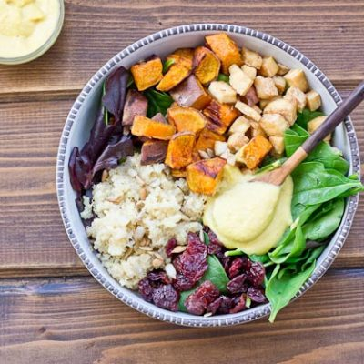 Veggie Power Bowl with Cashew Honey Mustard Dressing