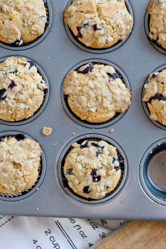 These Blueberry Cheesecake Muffins With Oatmeal Streusel Topping Are So Moist Made With Protein
