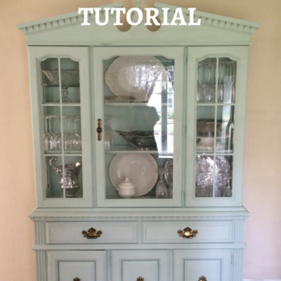DIY Chalk Paint Vintage Hutch Tutorial