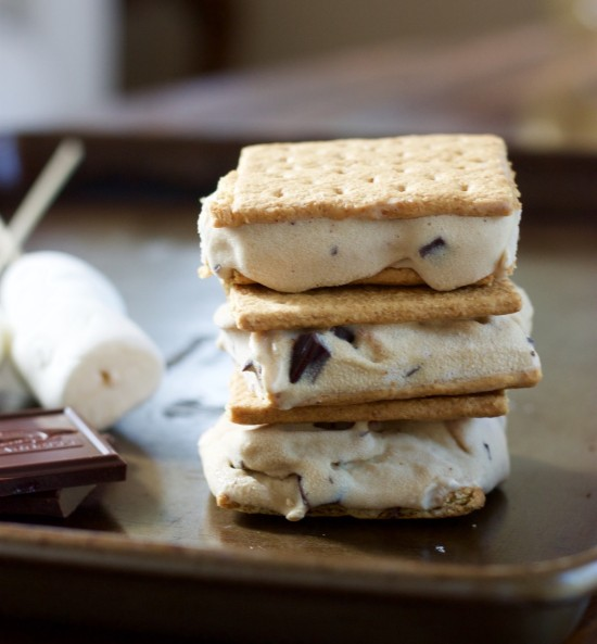 These Toasted Marshmallow Smores Ice Cream Bars have all that campfire flavor and perfect for a hot summer night. Vegan and dairy free.