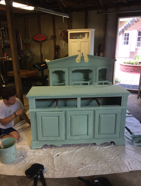 DIY Chalk Paint Vintage Hutch Tutorial