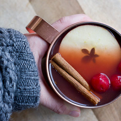 Mulled Tart Cherry Apple Cider
