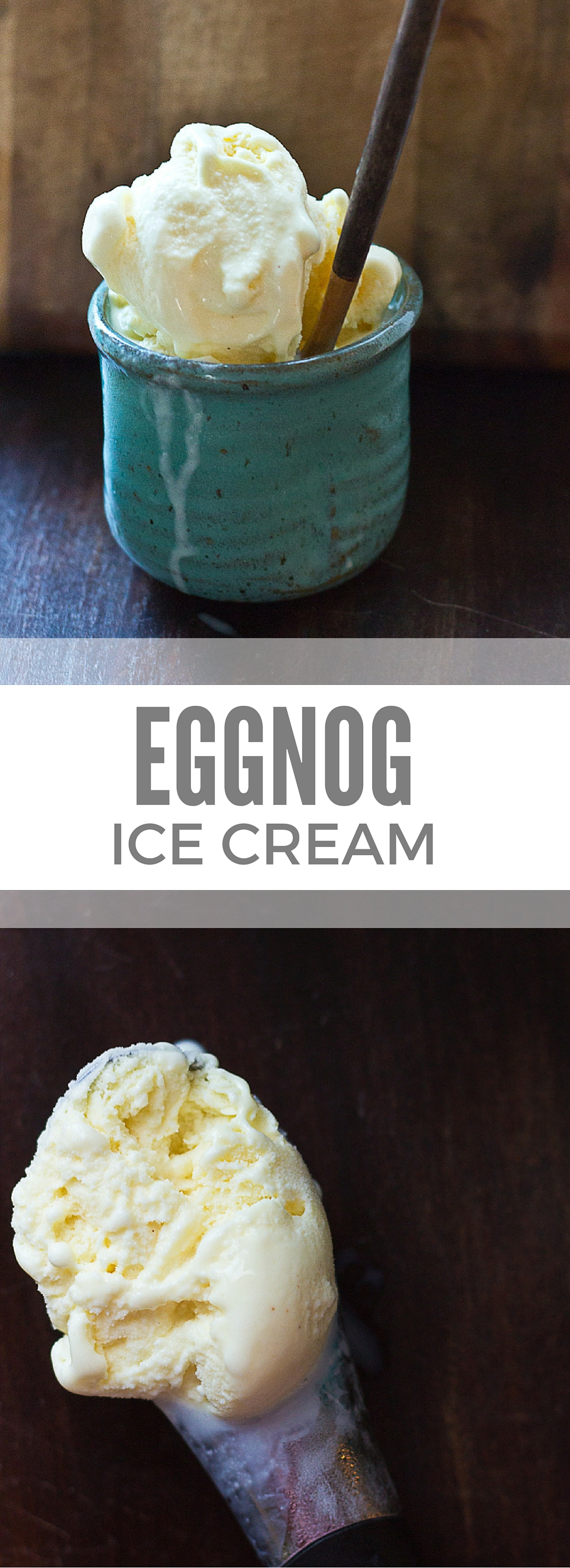 Ice Cream made with 1 ingredient... eggnog. Pour eggnog into ice cream ...