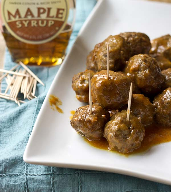 Slow Cooker BBQ Meatballs tho. Love that sweet maple flavor! Learn how to make bbq meatballs recipe in the crockpot for a crowd at your next party or meal prep them to eat throughout the week! The crock pot does all the work.