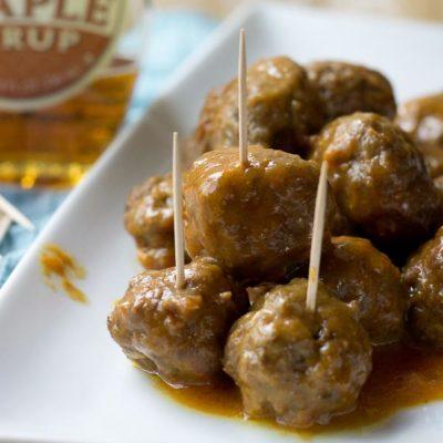 Slow Cooker Maple Meatballs
