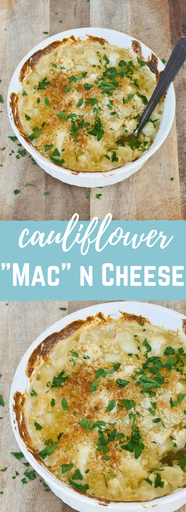 """This Cauliflower """"Mac"""" n Cheese, made with gnocchi instead of macaroni is so creamy and so cheesy, it's hard to resist eating it all up! Have a bowl of this """"Mac n Cheese"""" and eat your veggies too!"""