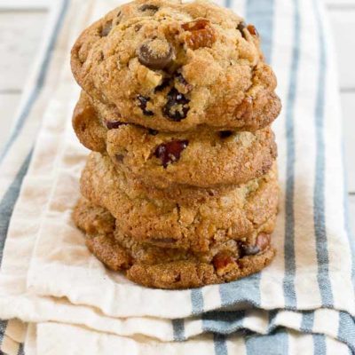 Coconut Oil Chocolate Chip & Cranberry Cookies