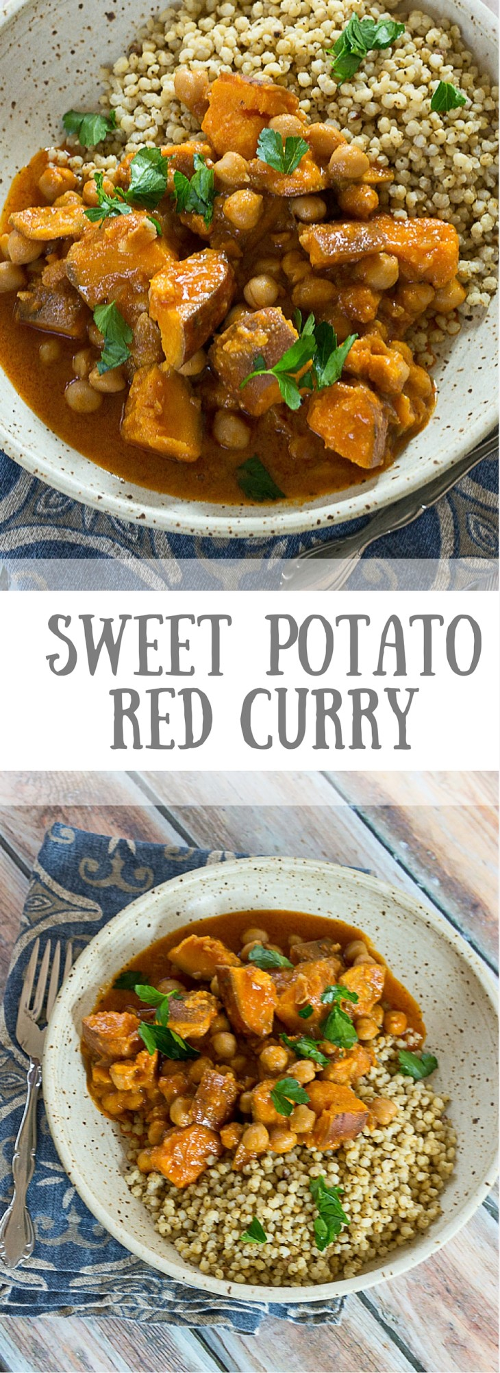 Oh oh oh, you sweet, precious Sweet Potato Red Curry, I love you. Like really really love you. This Sweet Potato Curry is crazy simple to stir together on a chilly night when all you want to do is curl up on the couch with a cuddly blanket...and a warm comforting bowl of this Sweet Potato Curry, of course. Vegan. Gluten free.