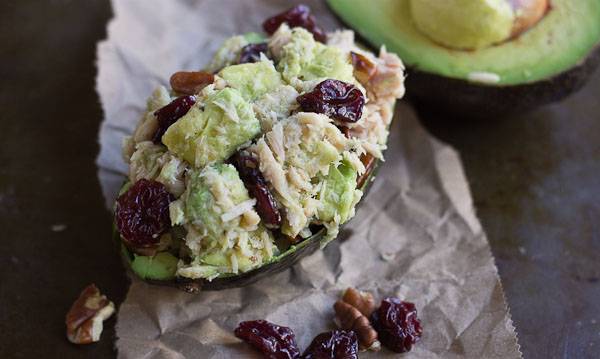 a low carb lunch recipe, tuna stuffed avocado
